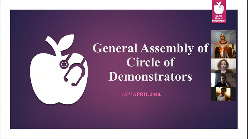 Awards for Demonstrator Students and Mentor Teachers During the Online Assembly of the Circle of Demonstrators