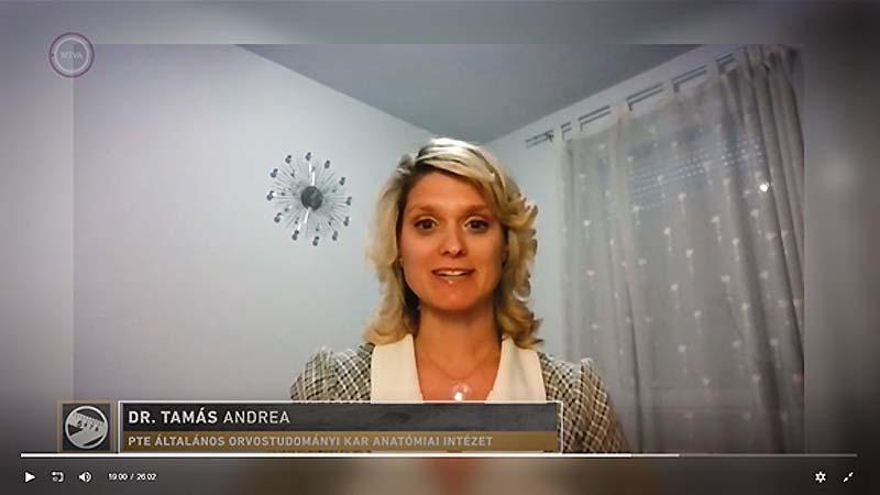 Dr. Tamás Andrea online szövettan órái a Felsős műsorban a COVID-időszak alatt