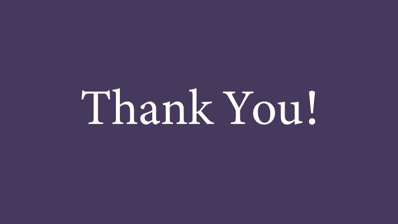 Köszönőlevél az önkéntes hallgatóknak