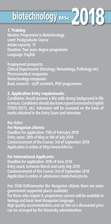 University of Pécs Medical School Admissions - Downloadables