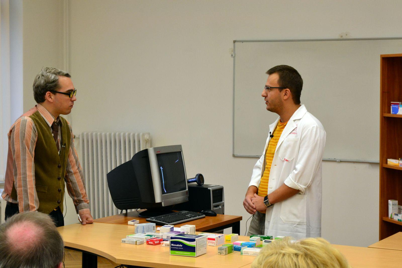Bartha Sámuel, a gyógyszerészi gondozási verseny győztes gyógyszerész hallgatója