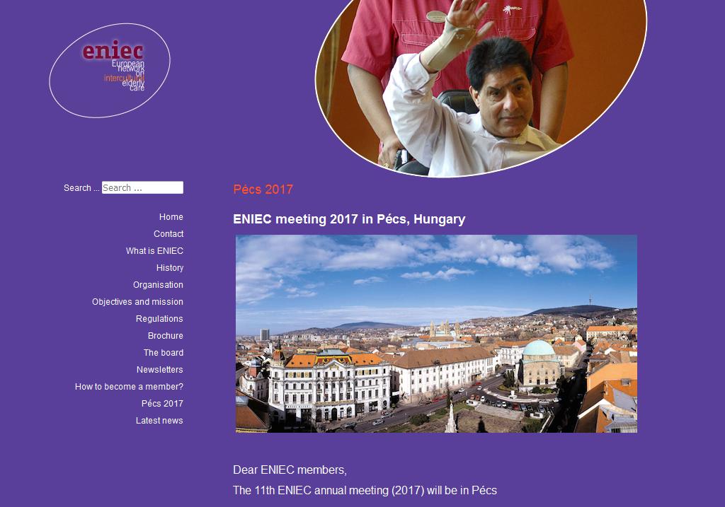 ENIEC hivatalos weboldala