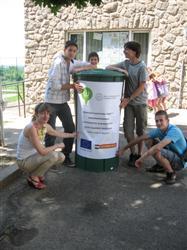 Esővízgyűjtő a Kovács Béla Általános Iskolában