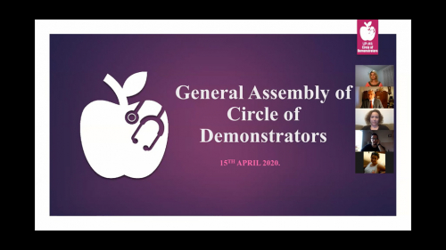 The general assembly of the Circle of Demonstrators - online