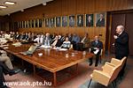 Sitzung des Professorenrates- Gastvortrag von Herrn Prof Dénes Hollanda