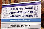 2nd International Doctoral Workshop on Natural Sciences (I. Tag)