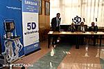 Samsung Präsentation und feierliche Übergabe mit Pressekonferenz
